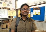 Sonia Saravanan in UPS uniform