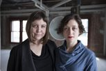 Artists Carrie Bodle, left, and Amaranth Borsuk