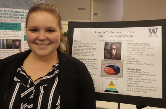 Jesika Jacobsen with poster
