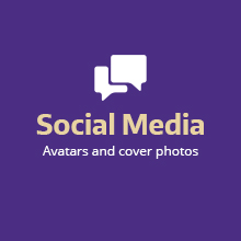 Download 25 year social media avatars and cover photos
