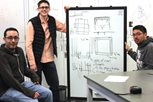 Mechanical engineering students plan cooler.