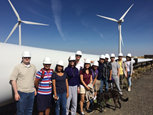 students visit windfarm