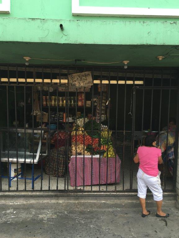 In the city: Storefront in Guatemala