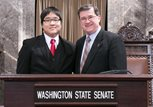 Andy Tran with Sen. Curtis King