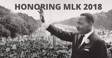 Martin Luther King image text Honoring MLK 2018