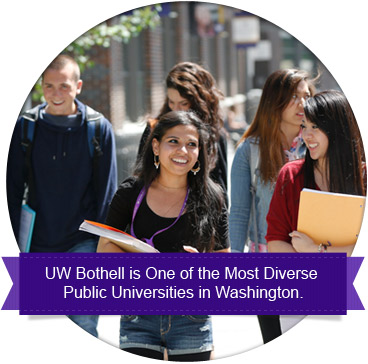 UW Bothell is one of the most diverse public universities in Washington.