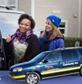happy riders with the community van