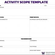 Activity Scope Template