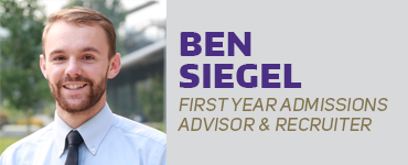 Ben Siegel, Admissions Advisor & Recruiter