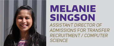 Melanie Singson - Assistant Director of Admissions for Transfer Recruitment