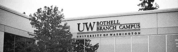 canyon park location with sign saying UW Bothell Branch Campus
