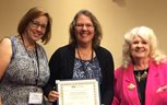 Kristin Gustafson with Tracy Everbach and Lillian Lodge Kopenhaver