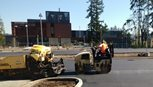 Paving the new parking lot