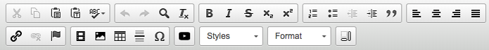 the editor's toolbar