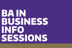 BA in Business Info Sessions