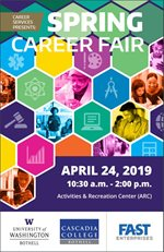 Image of Career Fair Program that will be handed out at fair.