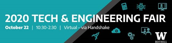 2020 Tech & Engineering Fair, October 22, 10:30-2:30, virtual via Handshake