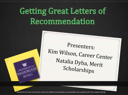 Getting great letters of recommendation presentation