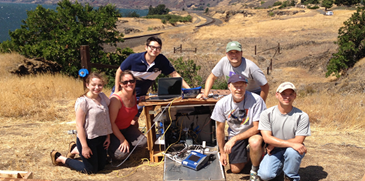 Jaffe Group research team in the Columbia River Gorge
