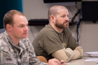 Student-Vets learn in the classroom