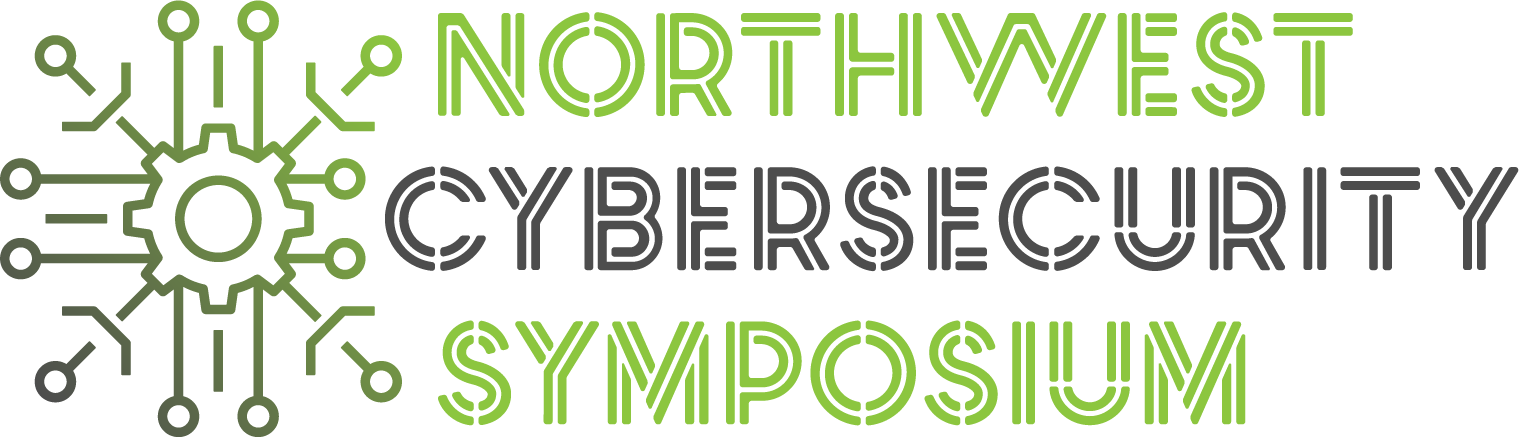Green and grey image with Northwest Cybersecurity Symposium logo