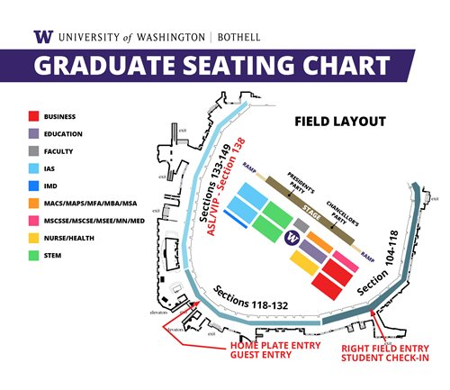 Seating chart for students, family and guests