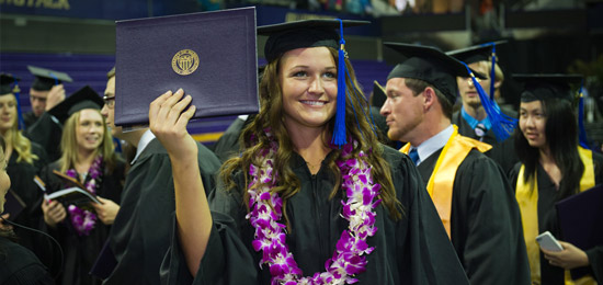 Students graduating at the UW Bothell 2013 commencement