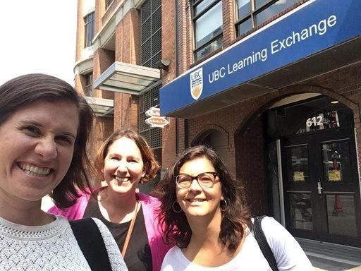 selfie in front of ubc learning exchange