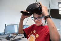 Noah Brown, a student from the VR Hackathon camp