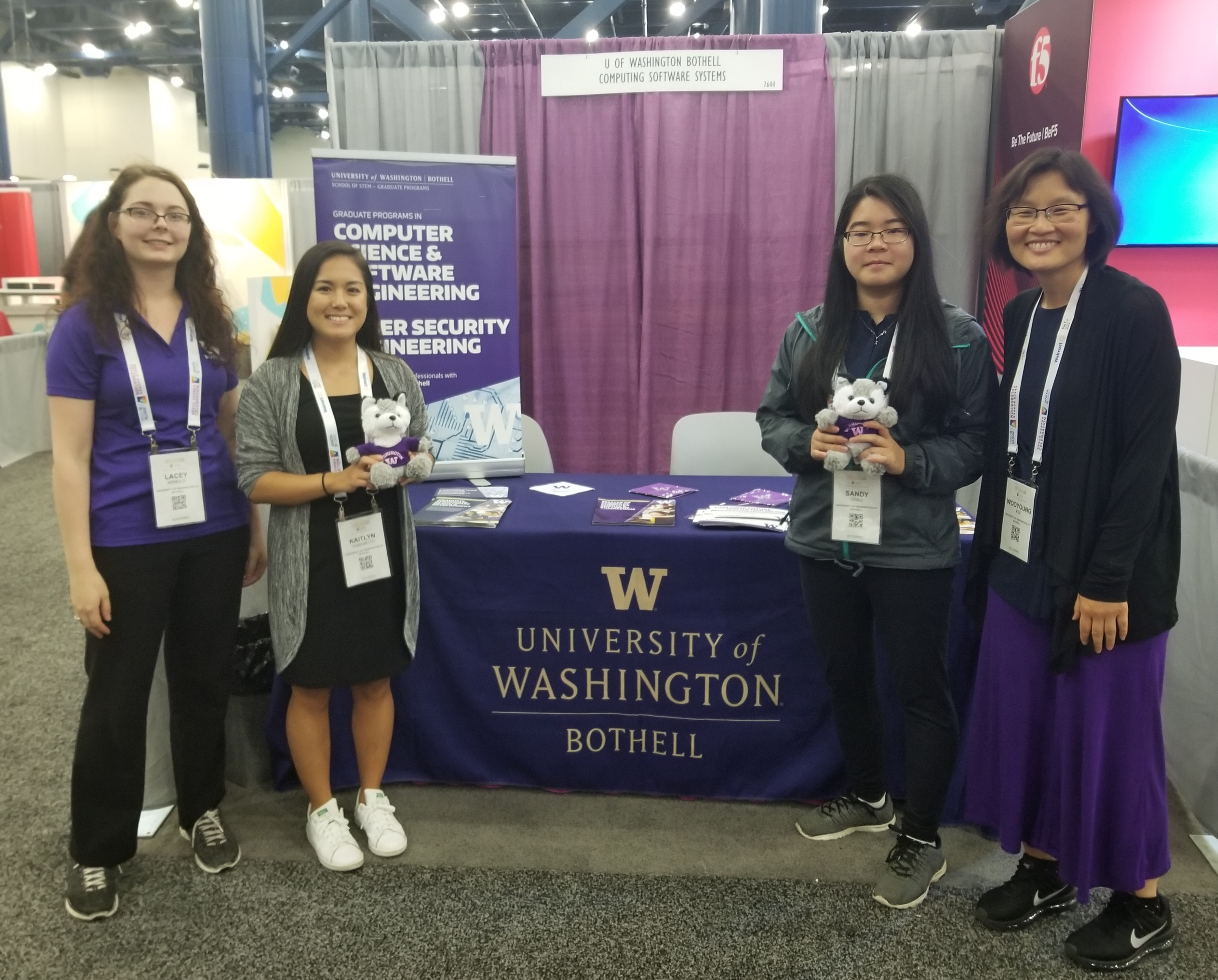 UW Bothell CSS division booth at Grace Hopper