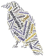IAS word cloud crow shape