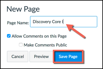 Edit Page Title Button