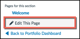 Edit this page button