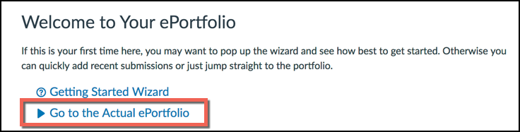 Go To The Actual ePortfolio Link