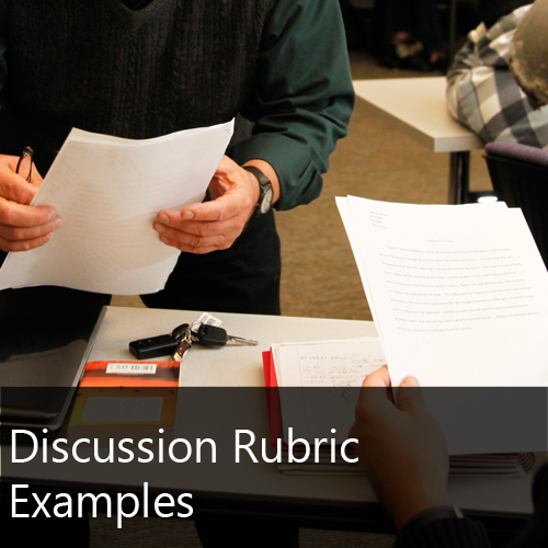Discussion Rubric Examples