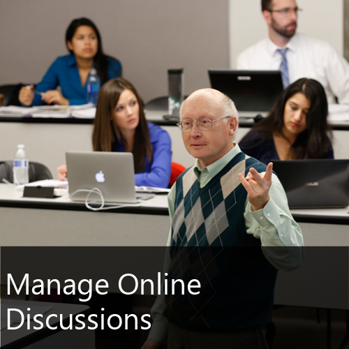 Manage Online Discussions