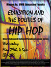 Education and the Politics of Hip Hop Flyer