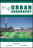 Urban Geography journal cover