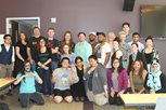 students and alumni group shot