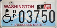 University of Washington License Plate that reads WDUBSUP