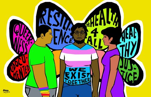 Illustration by Julio Salgado, commissioned by the #Health4All campaign.