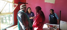 UWB study abroad ambassador Jessica Velasquez engaging with community partners in Bloemfontein, South Africa