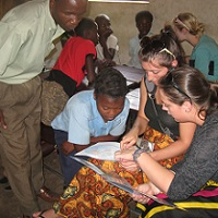 UWB students in Zambia