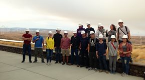 Students at Wild Horse Power Plant in Ellensburg Washington