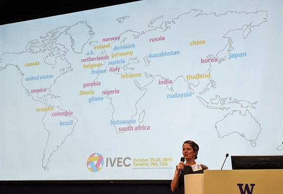 Map showing where IVEC 2019 attendees came from