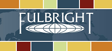 Fulbright logo with colorful border