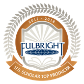 Fulbright Scholar Top Producer 2017-18 Badge