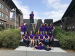 "Team Guatemala returned from a study abroad trip in Summer 2018 to pose in front of the UW Bothell ""W"" Sign on campus."