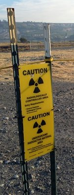 caution sign at Hanford