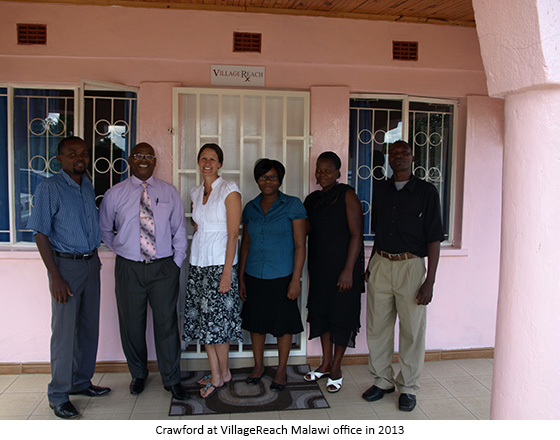 Crawford at VillageReach Malawi Office in 2013